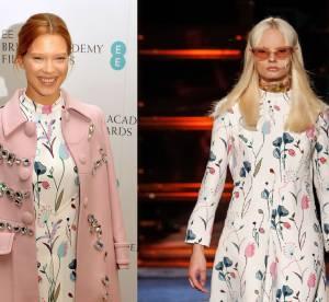 Léa Seydoux VS Podium : la robe à imprimé floral Miu Miu