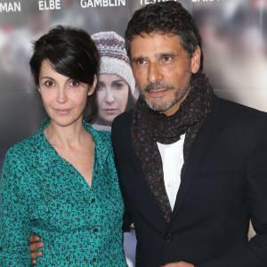 Zabou Breitman a remplacé Valérie Benguigui qui devait jouer dans 24 Jours. Ici à l'avant-première du film avec Pascal Elbé le 29 avril 2014 à Paris.