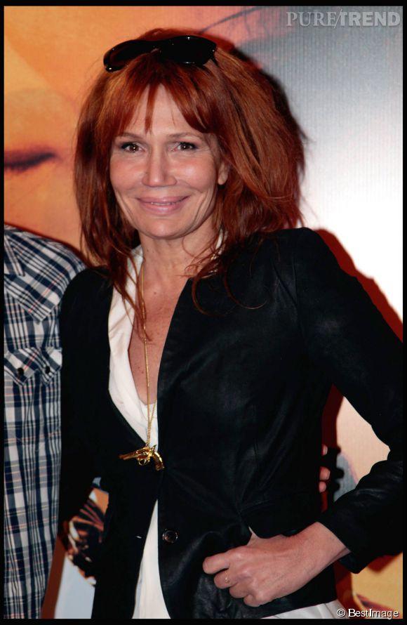 Clémentine Célarié a un faible pour le roux. Ici en mars 2011.