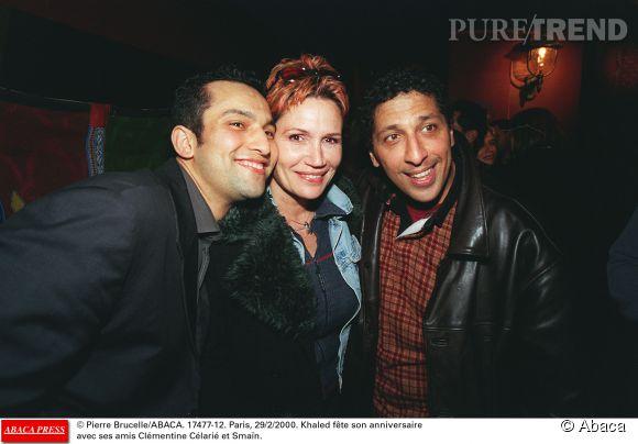 Clémentine Célarié et Smaïn en juin 2000 lors de l'anniversaire de Khaled (à gauche).