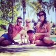 Thibault, Amélie et Shana dans les Anges de la Télé-réalité 6 en Australie en 2014.