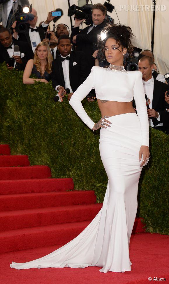 Rihanna, majestueuse au MET Ball le 5 mai 2014 à New York.