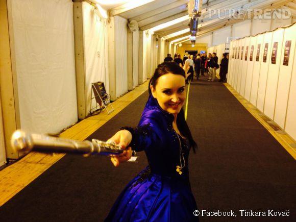 Tinkara Kovac, la candidate slovène, a joué un solo de flûte traversière pour épater le jury, ça a marché!