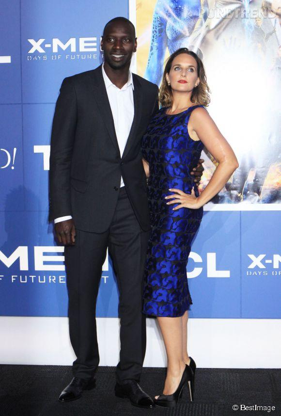 """Omar Sy et Hélène à la première de """"X-Men, days of the future past"""" : les frenchy font sensation !"""
