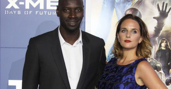 omar sy et sa femme h l ne couple glamour et complice pour x men. Black Bedroom Furniture Sets. Home Design Ideas