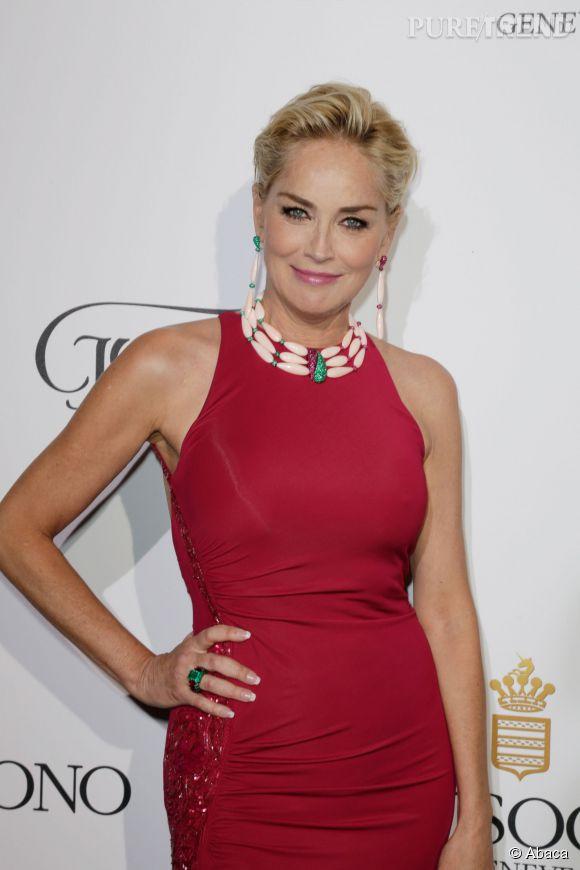 Sharon Stone à la soirée de Grisogono le 20 mai 2014 à Cannes.