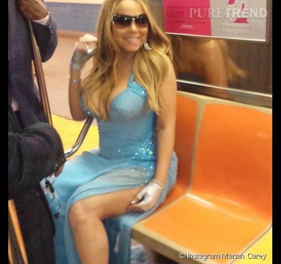 Mariah Carey rentre en métro. Normal.