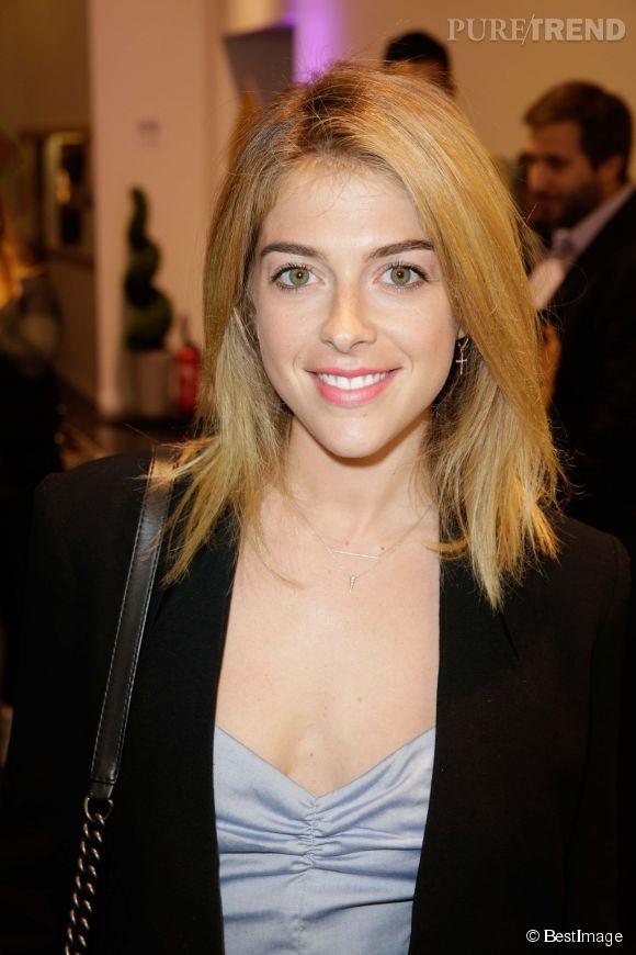 Victoria Monfort, la fille de Nelson Monfort, lors d'une soirée organisée à l'occasion de l'arrivée en France de la marque Aussie. Le 4 juin 2014.