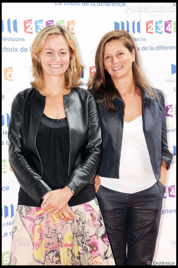Françoise Joly (à gauche) et Guilaine Chenu, les présentatrices d'Envoyé Spécial sur France 2.