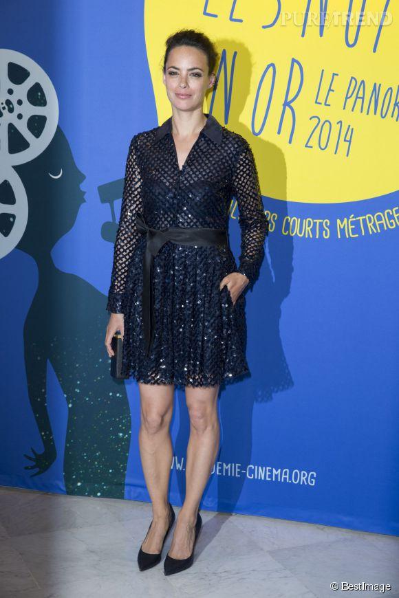 Bérénice Béjo et sa petite robe transparente au dîner de Gala du Panorama des Nuits en Or à l'UNESCO à Paris le 16 juin 2014.