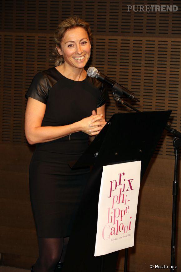 Non seulement Anne-Sophie Lapix est sublime, mais en plus c'est une journaliste géniale. Ici, elle reçoit le prix Philippe caloni du Meilleur interviewer en novembre 2012.