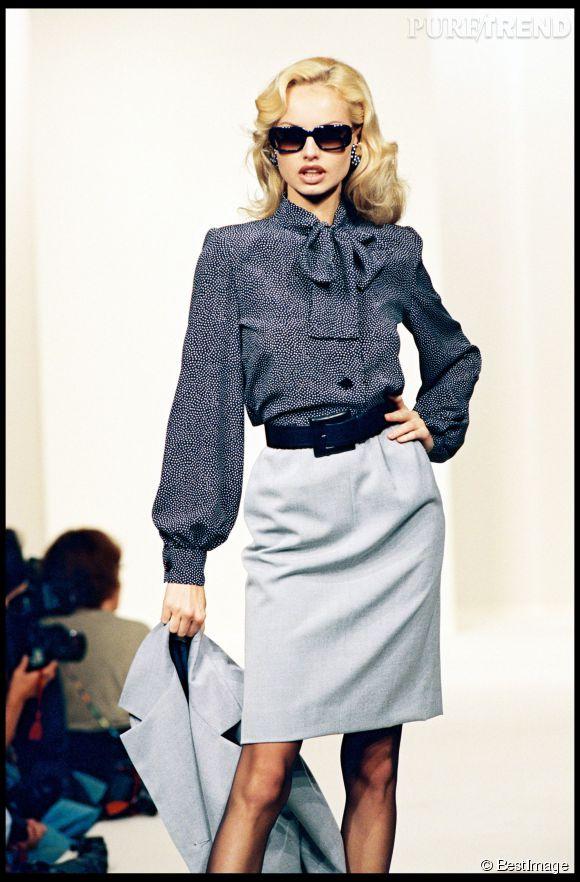 Adriana Karembeu, mannequin pour Givenchy en 1995.