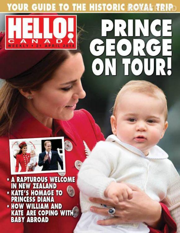 Kate Middleton et le Prince George pour Hello !