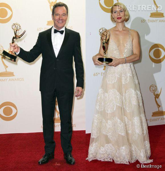 Comme en 2013, Bryan Cranston (Breaking Bad) et Claire Danes (Homeland) sont tous les deux nominés en 2014 aux Emmy Awards, dans la catégorie  Meilleur acteur dans une série dramatique .