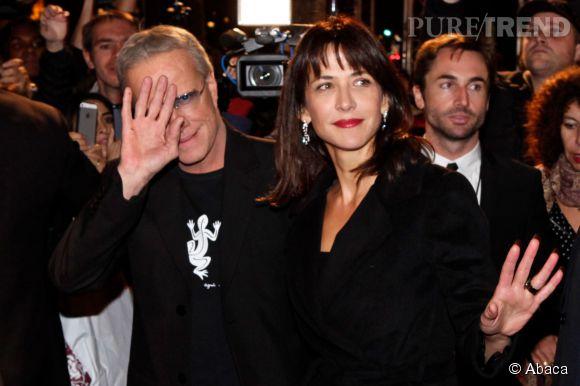 Christophe Lambert et Sophie Marceau en 2012 à Paris.