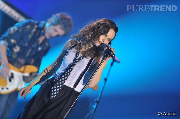 Vanessa Paradis sur scène en 2008.