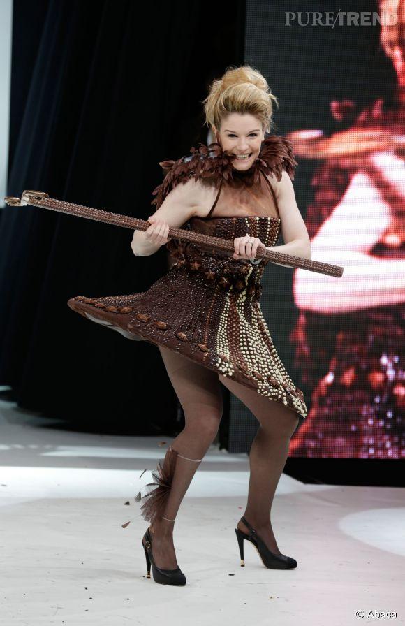 Louise Ekland au Salon du Chocolat en octobre 2013.