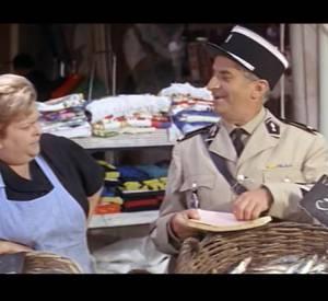 """Louis de Funès dans """"Le Gendarme de St-Tropez"""", en 1964."""