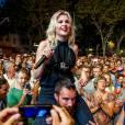 Cécile Cassel alias HollySiz à Vence pour les nuits du Sud le 31 juillet 2014.