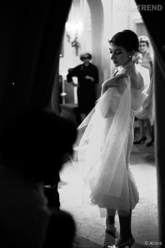 Maria Callas, l'icône de l'opéra, ici prise en photo en 1958.