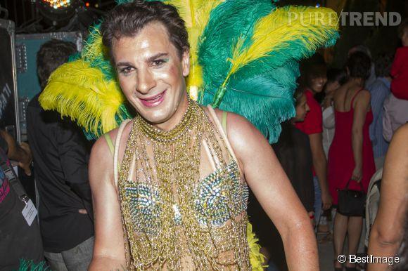 """Michaël Youn au """"Marrakech du rire"""" le 14 juin dernier. Une jolie bête à plumes..."""
