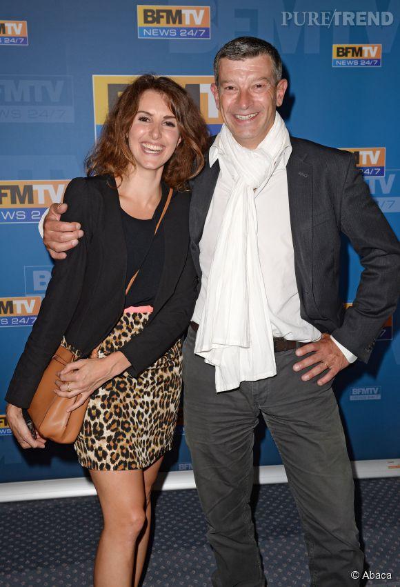 Fanny Agostini et Nicolas Doze, hier à la conférence de presse de rentrée de  BFMTV.