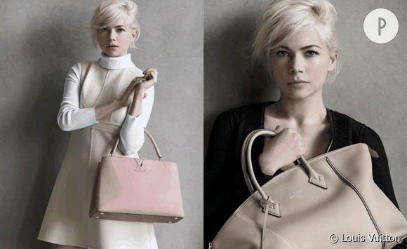 Michelle Williams représente une nouvelle fois la femme Vuitton. Magnifique !