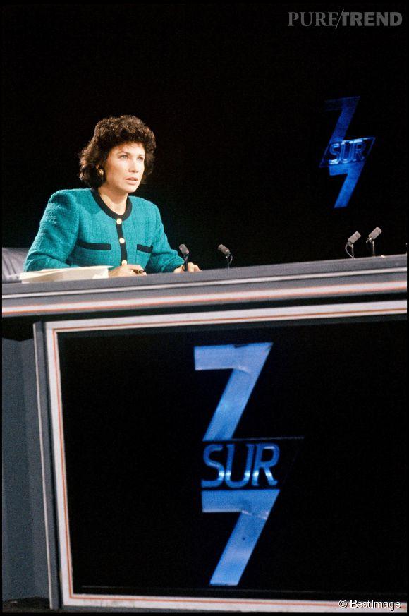 Anne Sinclair, l'une des présentatrices les plus emblématiques du PAF.