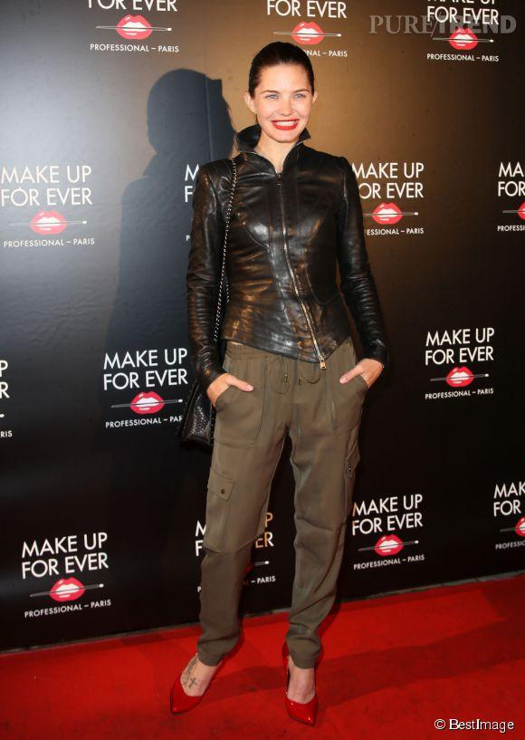 Delphine Chanéac sur le red carpet de la soirée des 30 ans de Make Up For Ever.