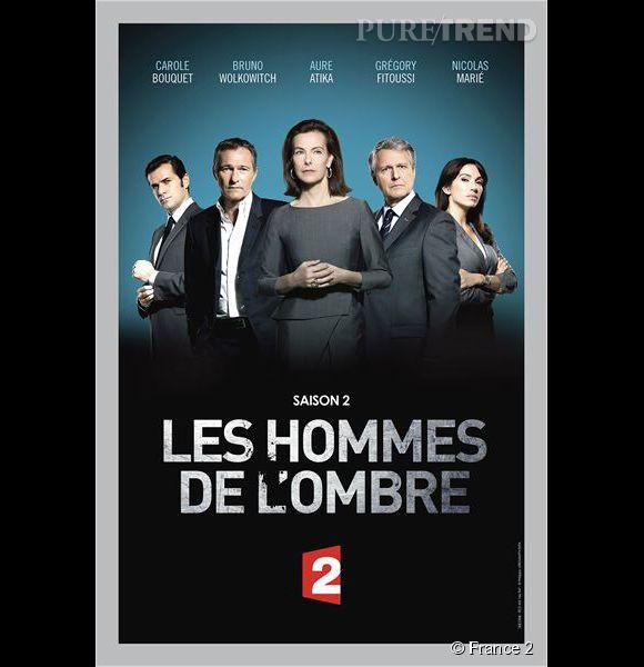 """Carole Bouquet détient un des rôles principaux de la deuxième saison des """"Hommes de l'ombre"""" sur  France 2 . Diffusion prévue avant la fin de l'année."""