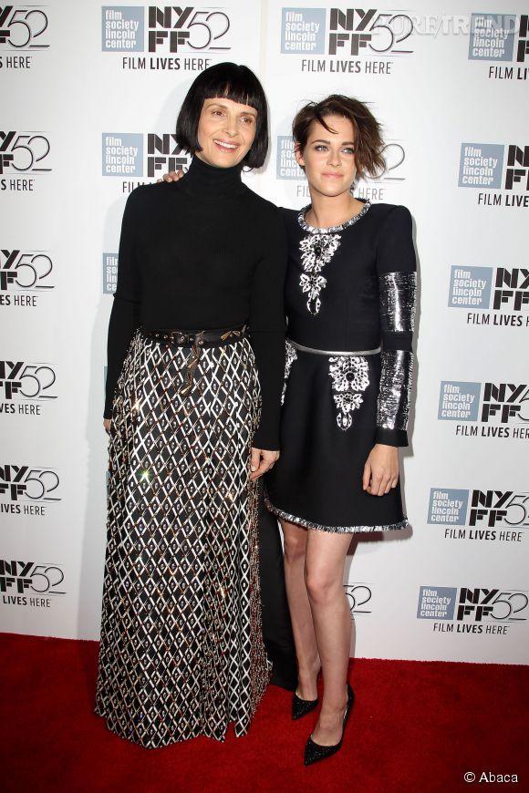 Juliette Binoche et Kristen Stewart, duo futuriste et looké pour le Festival du Film de New York.