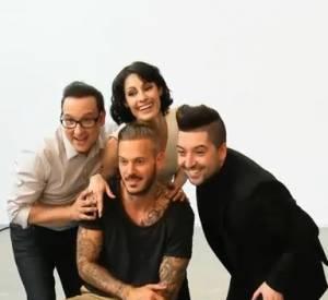 """M. Pokora membre du jury de """"Danse avec les stars 5"""" aux côtés de Chris Marques, Marie-Claude Pietragalla et Jean-Marc Généreux."""