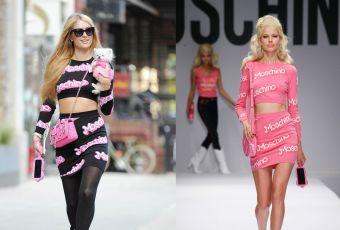 Paris Hilton vs le podium : le look 100% Barbie sexy de Moschino