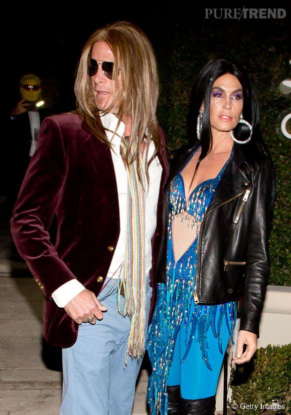 Rande Gerber et Cindy Crawford se rendent à la soirée Casamigos Tequila à Beverly Hills le 24 octobre 2014.