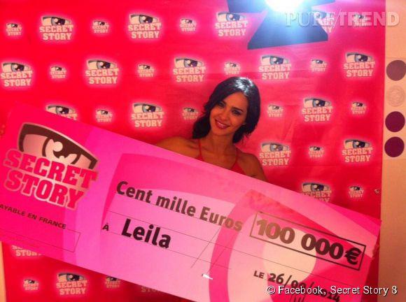 "Leïla Ben Khalifa, la grande gagnante de ""Secret story 8""."