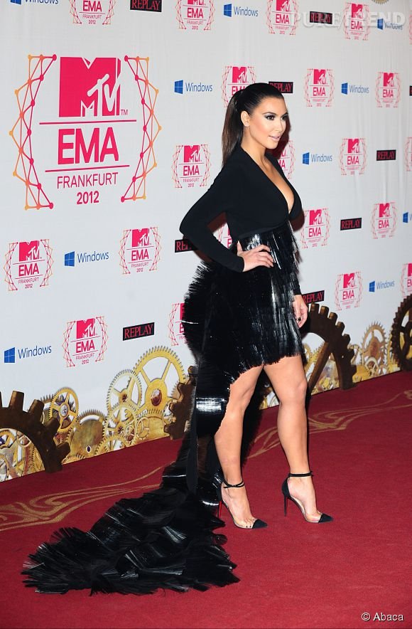 Kim Kardashian a fait tourner les têtes en 2012 aux MTV Europe Music Awards.