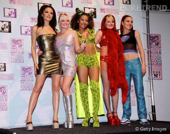 Les Spice Girls au top de leur forme aux MTV Europe Music Awards 1997 à Rotterdam.