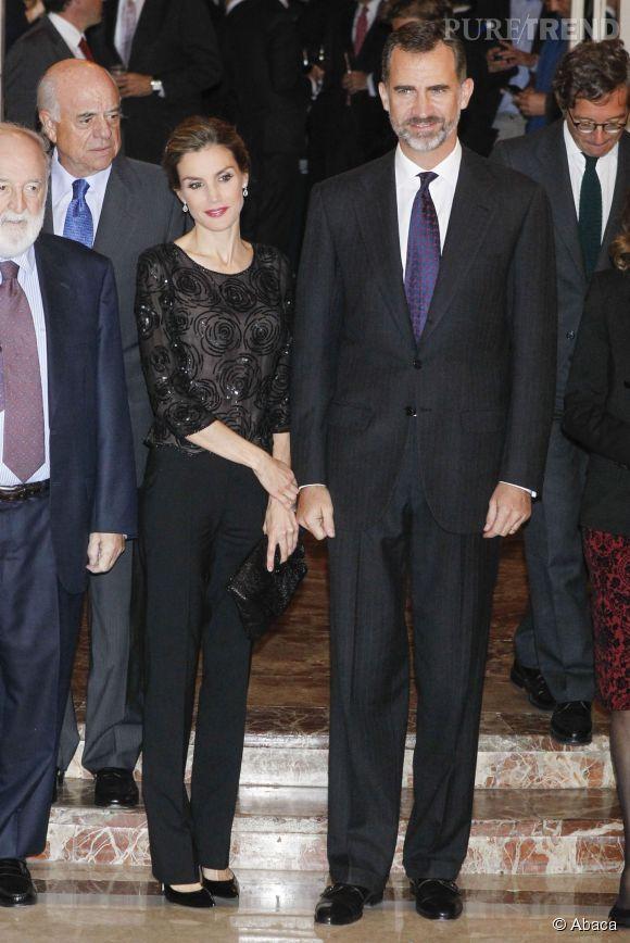 Letizia d'Espagne et son mari le roi Felipe VI. Un couple de souverains inséparable !