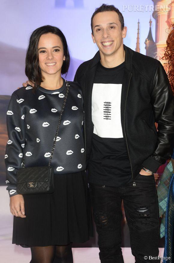 Alizée et Grégoire Lyonnet à la journée de lancement de la nouvelle parade de Noël à Disneyland Paris le 15 novembre 2014.