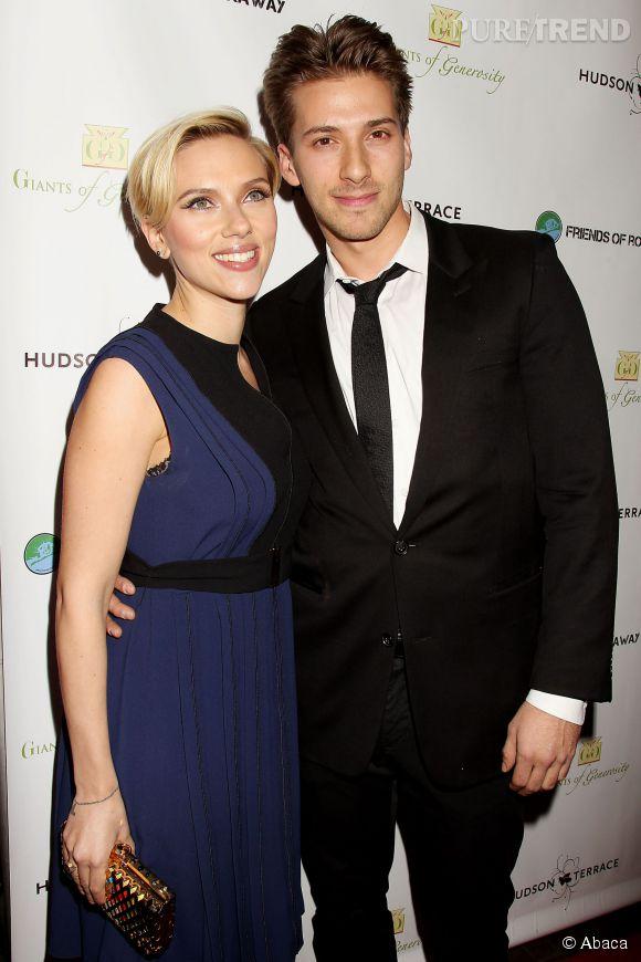Scarlett Johansson et son frère jumeau, Hunter.