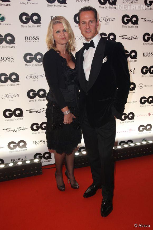 Corinna et Michael Schumacher aux GQ Men of the Year 2010, à Berlin.