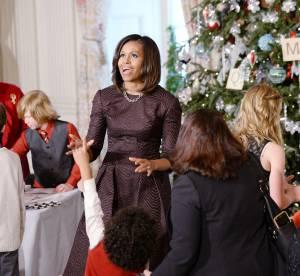 Michelle Obama ultra chic pour le Noël des enfants à la Maison-Blanche