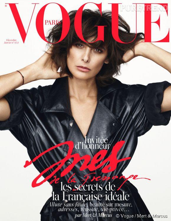 Inès de la Fressange est l'invitée d'honneur du numéro Noël de  Vogue Paris.