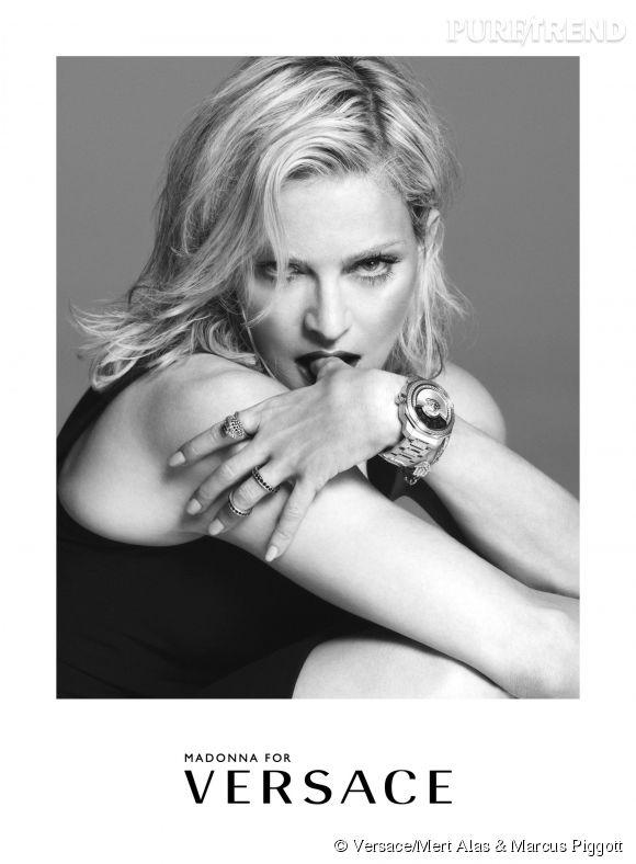 Madonna égérie de la campagne Versace Printemps-Été 2015.