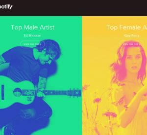 Ed Sheeran et Katy Perry sacrés roi et reine de Spotify en 2014