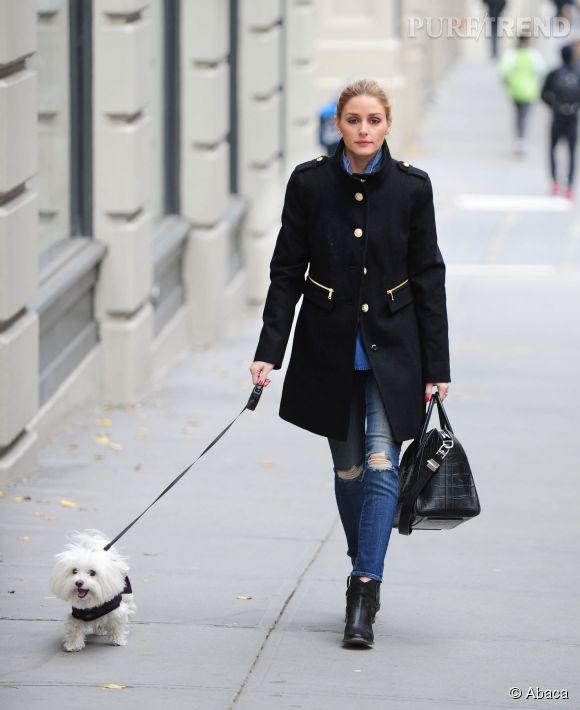 Dans les rues de New York, Olivia Palermo propose un look casual à reproduire sans attendre !