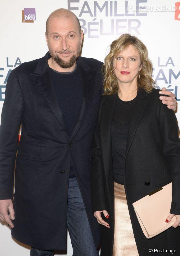"""Karin Viard assure actuellement la promotion de la comédie """"La Famille Bélier"""" (en salles le 17 décembre) aux côtés de François Damiens."""