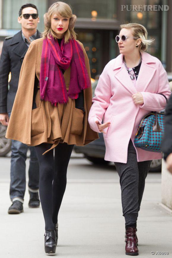 Lena Dunham observe attentivement Taylor Swift. Pour s'inspirer ?