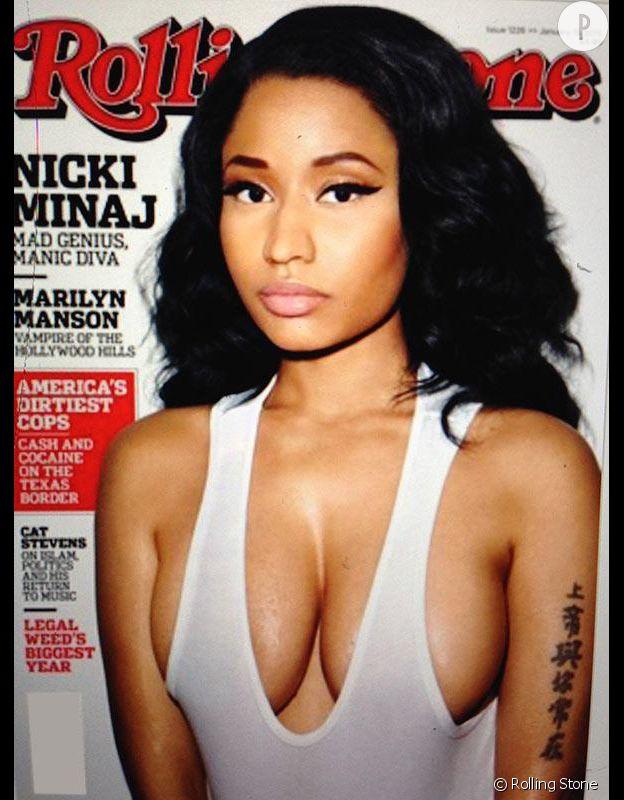 Nicki Minaj en couverture du numéro de janvier de Rolling Stone.