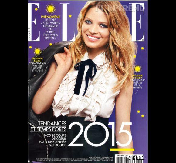 Mélanie Thierry fait la couverture du magazine ELLE de janvier.